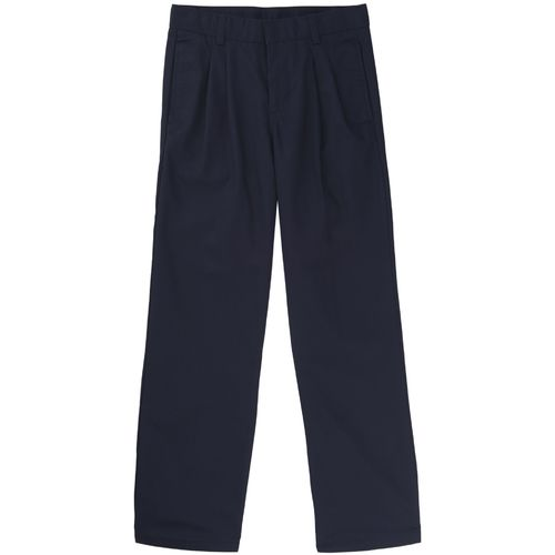 French Toast Boys' Adjustable Waist Pleated Double Knee Uniform Pant