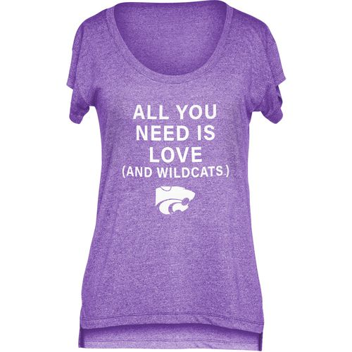 Chicka-d Women's Kansas State University Scoop-Neck T-shirt - view number 1
