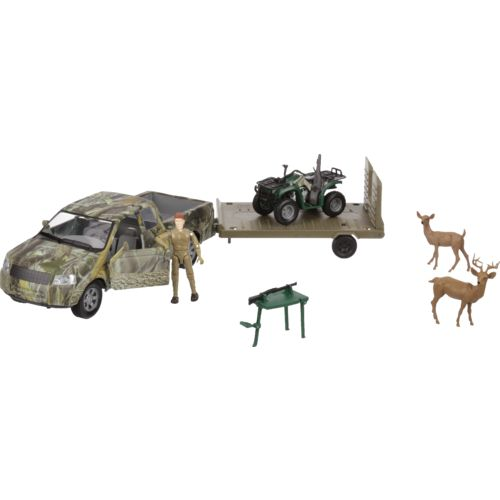 New-Ray Toys Wildlife Hunter Hunting Pick-Up Truck Play Set