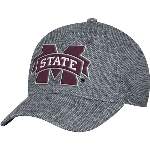 adidas Men's Mississippi State University Poly Tweed Structured Flex Cap