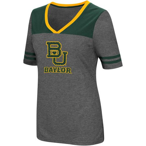 Colosseum Athletics Women's Baylor University Twist V-neck 2.3 T-shirt