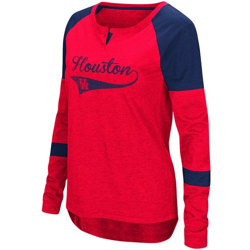 Colosseum Athletics Women's University of Houston Routine Raglan T-shirt