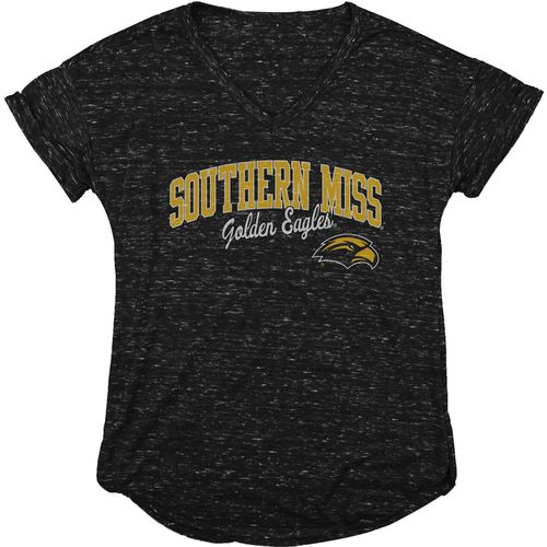 Blue 84 Women's University of Southern Mississippi Dark Confetti V-neck T-shirt