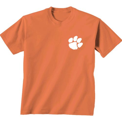 New World Graphics Women's Clemson University Comfort Color Initial Pattern T-shirt - view number 2