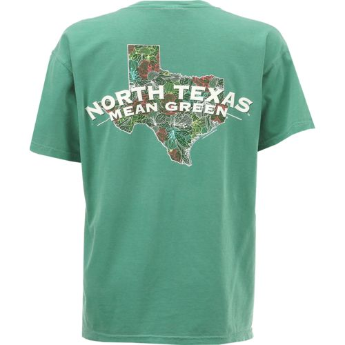 New World Graphics Women's University of North Texas Comfort Color Puff Arch T-shirt