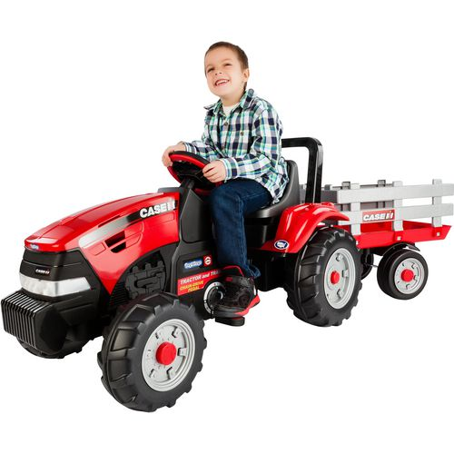 Peg Perego Case IH Tractor and Trailer Ride-On Pedal Vehicle