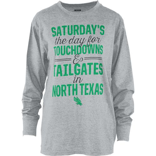 Three Squared Juniors' University of North Texas Touchdowns and Tailgates T-shirt