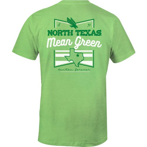 Image One Women's University of North Texas Forever Script Flag T-shirt