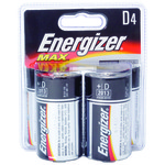 Energizer® Max D Batteries 4-Pack - view number 1
