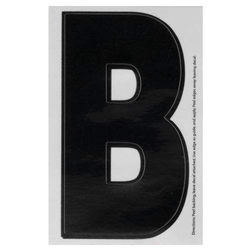 "Hardline Products® Dyer 3"" Letter B Decal"