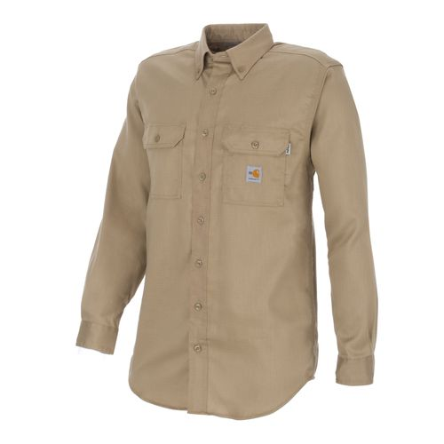 Carhartt Men's Flame-Resistant Work-Dry Lightweight Twill Shirt