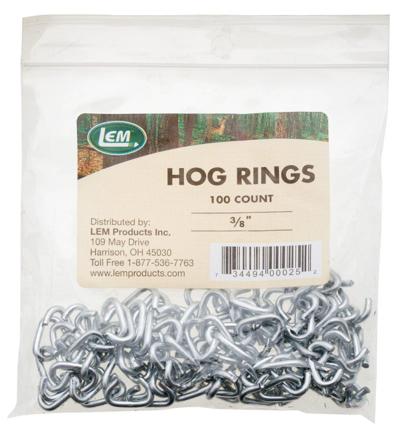 "Display product reviews for LEM 3/8"" Hog Rings 100-Pack"