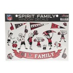 Tag Express Houston Texans Family Sticker Sheet