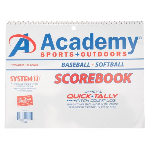 Academy System-17 Scorebook for Baseball and Softball