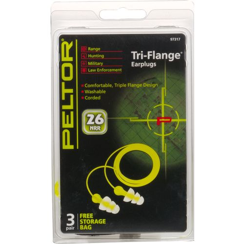 3M Peltor™ Reusable Triflange Earplugs 3-Pack