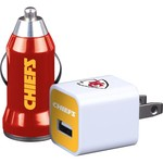 Mizco Kansas City Chiefs Home and Away USB Chargers 2-Pack