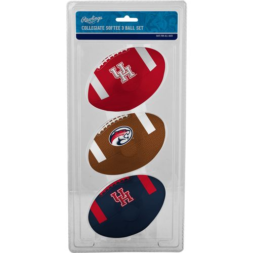 Rawlings® University of Houston 3rd Down Softee Footballs 3-Pack