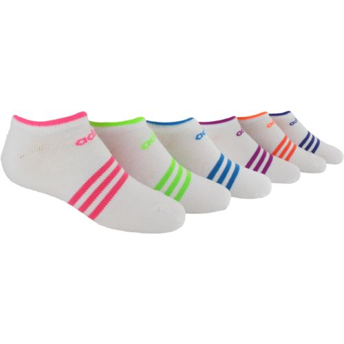 adidas™ Girls' Superlite No-Show Socks 6-Pair