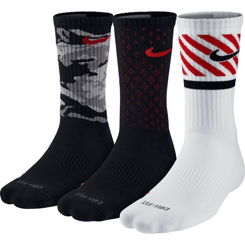 Nike Men's Dri-FIT Triple Fly Crew Socks 3-Pair