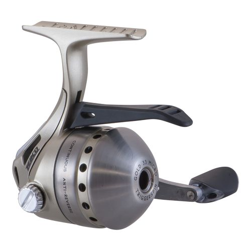 Zebco 33 micro gold triggerspin spincast reel convertible for Micro fishing pole