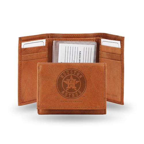 Rico Houston Astros Embossed Trifold Leather Wallet