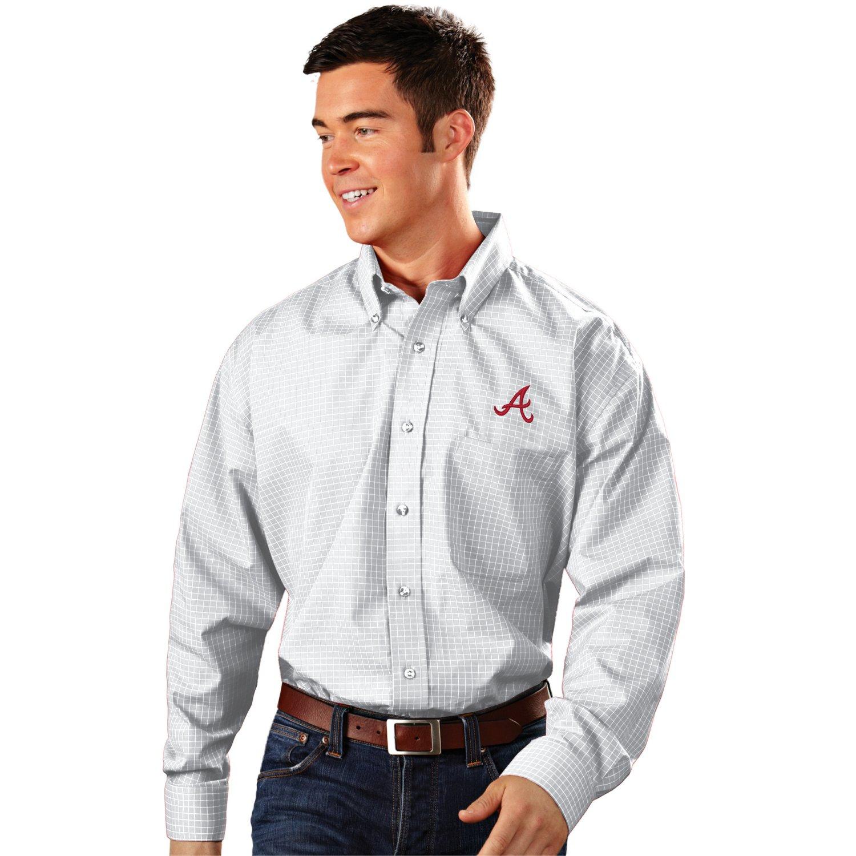 Antigua Men's Atlanta Braves Esteem Dress Shirt