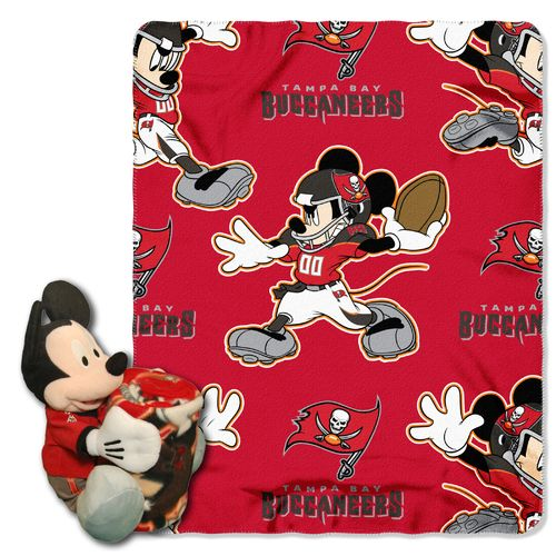 The Northwest Company Tampa Bay Buccaneers Mickey Mouse Hugger and Fleece Throw Set