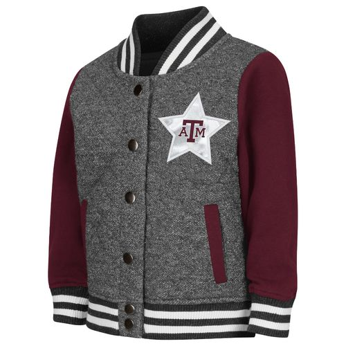 Colosseum Athletics Toddler Girls' Texas A&M University Sparkle Bomber Jacket