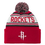 adidas Boys' Houston Rockets Cuffed Knit Cap with Pom