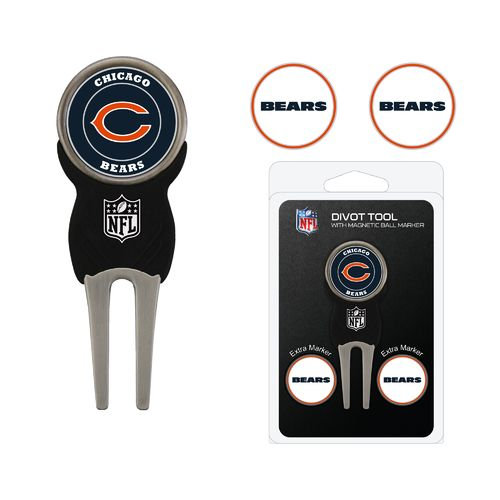 Team Golf Chicago Bears Divot Tool and Ball Marker Set