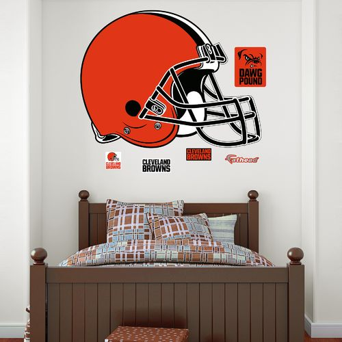 Fathead Cleveland Browns Real Big Team Helmet Logo Decal