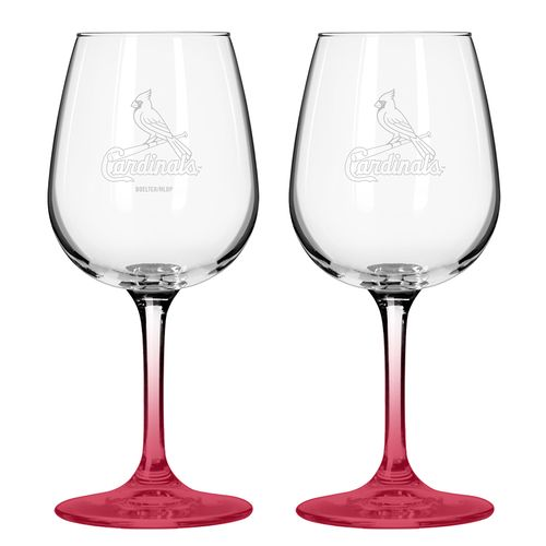 Boelter Brands St. Louis Cardinals 12 oz. Wine Glasses 2-Pack
