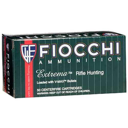 Fiocchi .222 Remington 50-Grain V-Max Centerfire Rifle Ammunition