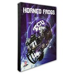 Photo File Texas Christian University Helmet Stretched Canvas Photo - view number 1