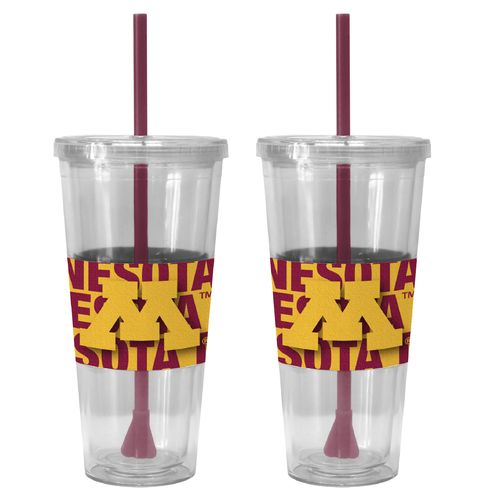 Boelter Brands University of Minnesota Bold Neo Sleeve 22 oz. Straw Tumblers 2-Pack