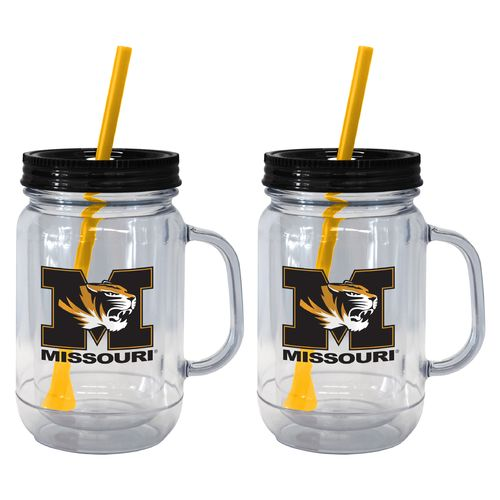Boelter Brands University of Missouri 20 oz. Handled Straw Tumblers 2-Pack