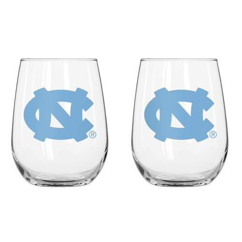 Boelter Brands University of North Carolina 16 oz. Curved Beverage Glasses 2-Pack