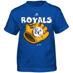 Majestic Boys' Kansas City Royals Baseball Mitt Short Sleeve T-shirt