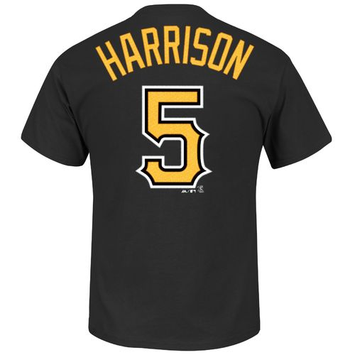 Majestic Men's Pittsburgh Pirates Josh Harrison #5 T-shirt