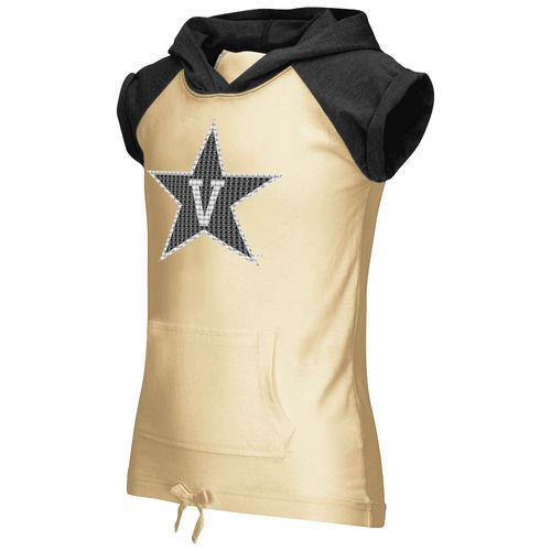 Colosseum Athletics Girls' Vanderbilt University Jewel Short Sleeve Hoodie