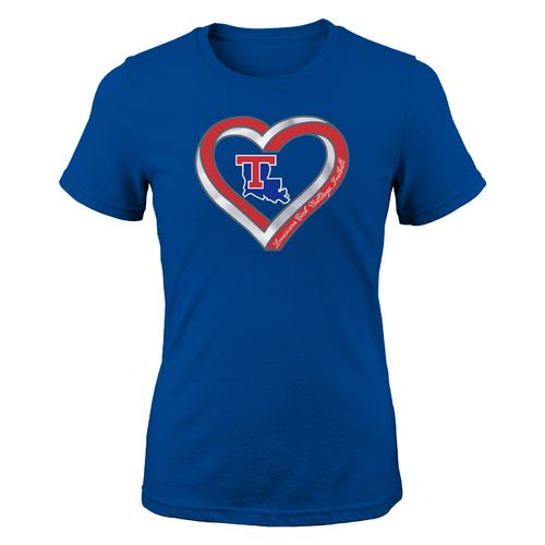Gen2 Girls' Louisiana Tech University Infinite Heart Fashion Fit T-shirt