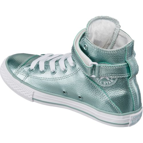Converse Girls' Chuck Taylor All Star Stingray Metallic Brea High-Top Shoes - view number 3