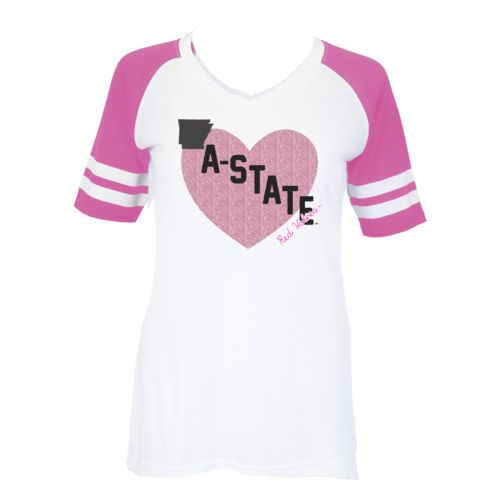 Soffe Girls' Arkansas State University Retro Football Jersey T-shirt