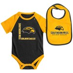 Colosseum Athletics Infants' University of Southern Mississippi Rookie Onesie and Bib Set