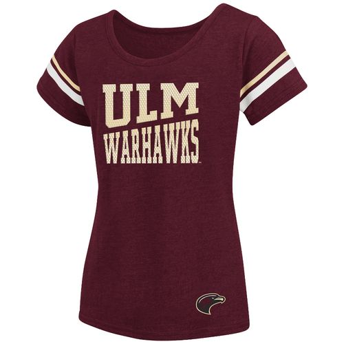 Colosseum Athletics™ Girls' University of Louisiana at Monroe Fading Dot T-shirt