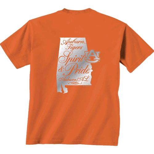 New World Graphics Women's Auburn University Silver State Distress T-shirt