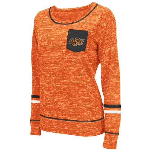 Colosseum Athletics™ Women's Oklahoma State University Homies Raw Edge Pocket T-shirt