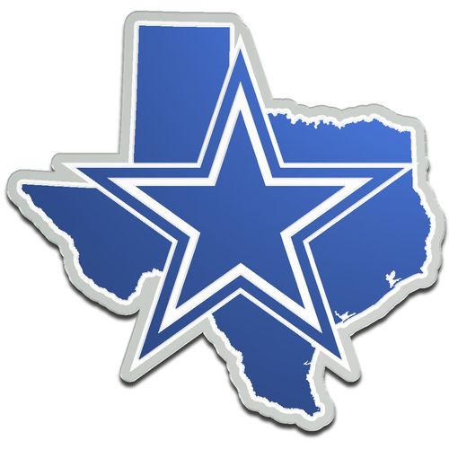 Stockdale Dallas Cowboys Acrylic State Shape Auto Emblem
