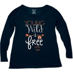 Blue 84 Women's Auburn University Liquid Jersey Patch Long Sleeve T-shirt