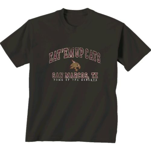 New World Graphics Men's Texas State University Local Phrase T-shirt